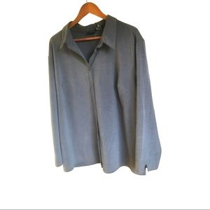 GEORGE Woman  Long Sleeve Button Down Top - Gray
